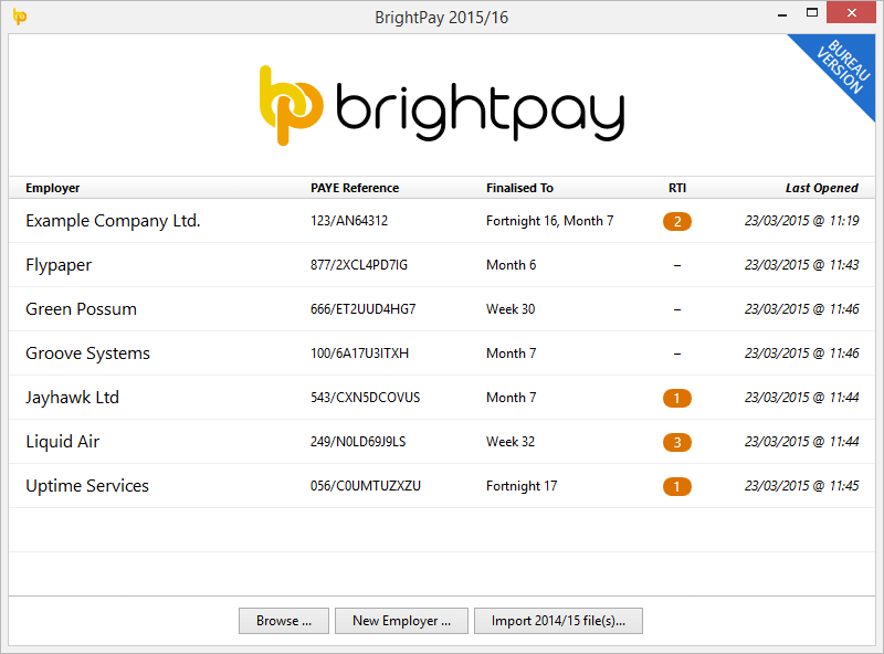 BrightPay 2015/16 is Now Available. What's New