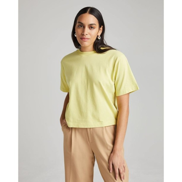 RICHER POORER RELAXED T-SHIRTS CROP PALE GREEN