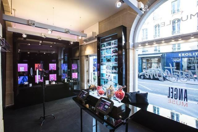 mugler angel pop-up store paris