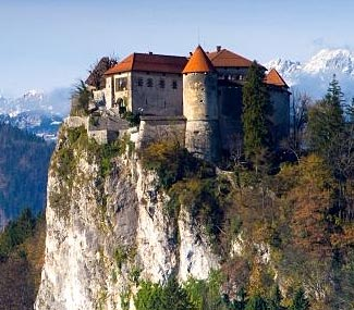 Bled Castle, just out of Ljubljana in Slovenia.  Jour our Balkan and Baltic Bucket List Tour to see this and many more sights.