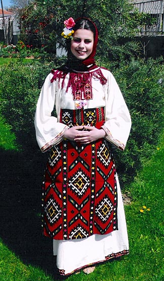 A friendly girl in local native Kumanovo (Macedonian) costume.  We visit on day 7,