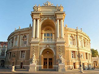 The glorious neo-Baroque style Opera Theater in Odessa - you'll see it on our June 2013 Balkan Baltic Bucket List Tour.