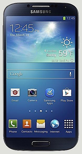 The lovely new Samsung Galaxy S IV.