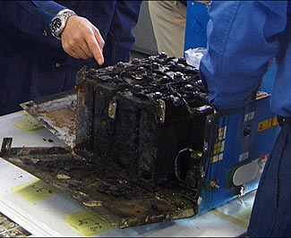 One of the failed batteries.