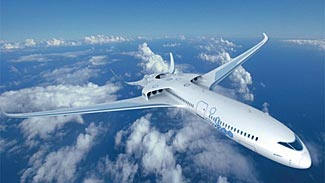 A futuristic hybrid plane design from Airbus.  What are the chances we'll see these types of planes in our lifetimes?