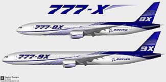 The new 777X airplane is Boeing's next major airplane project.
