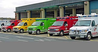 Heathrow Air Ambulance has ambulances of all sizes, shapes and colors.
