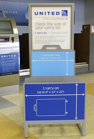 Will United's new crackdown on carry-on bags actually be implemented any more thoroughly than any past attempts to do the same?