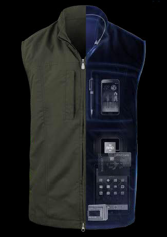 The new RFID blocking travel vest from Scottevest.