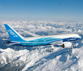 Uh oh.  It is a safe bet that this 787 picture appearing here doesn't herald good news....