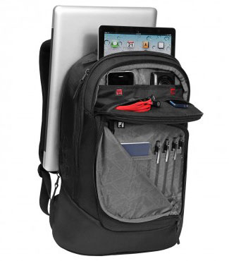 The Ogio Newt 15 backpack has six compartments,