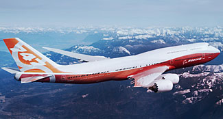 The latest version 747-8, now to become the new Air Force One in 2023