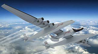 The Stratolaunch Carrier, due to take to the skies next year.