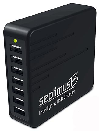 This inexpensive charger will charge seven devices simultaneously.