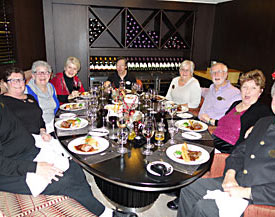 A group of Travel Insiders enjoying a great dinner and great companionship on an earlier cruise.