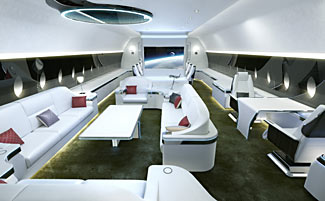 The new Airbus business jet can fly nonstop to anywhere in the world.