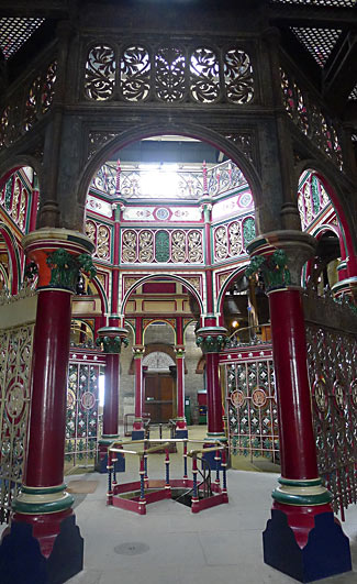 The beautiful interior of the newly restored Crossness pumping station in London - see last item.