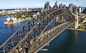 Climb to the very top of the superstructure on Sydney's iconic Harbour Bridge.