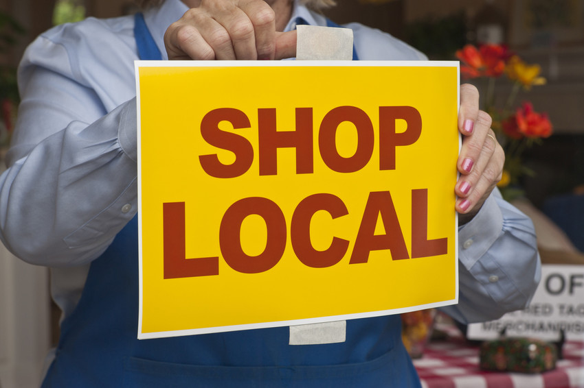 shopping local to support small business