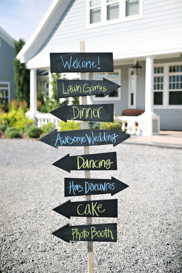 wedding arrow signs - The Wedding of My DreamsThe Wedding of My Dreams