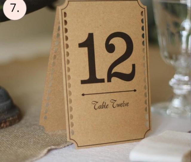 Best Wedding Table Numbers Brown Cards