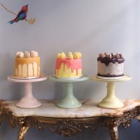 Pastel Coloured Cake Stands - Anges De Sucre