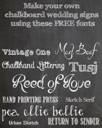 chalkboard wedding signs printable