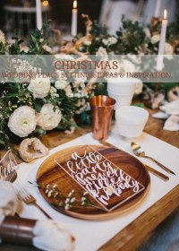 Christmas Wedding Place Settings: Ideas and Inspiration