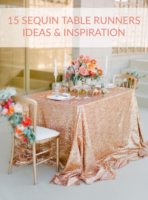 15 sparkly sequin table