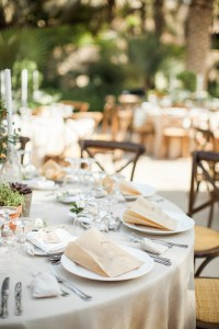 Rustic Elegant Alfresco Wedding: Place Setting Ideas