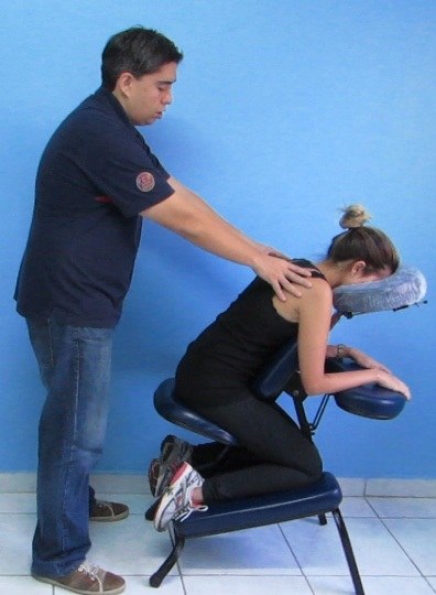 Foto do Ebook, que é como um curso de quick massage online!