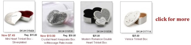 Heart Trinket Boxes