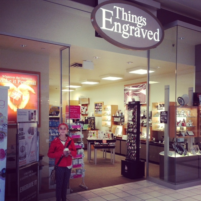 Kylie visited our Things Engraved Store at Upper Canada Mall