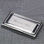 ss business card case with rivets