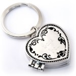 Triple Locket Heart Key Chain