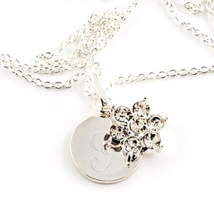 Crystal Flower Necklace Things Engraved