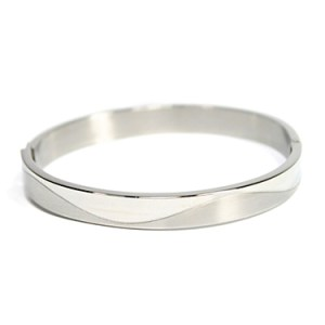Ladies Stainless Steel Bangle Bracelet Things Engraved