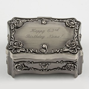Rectangle Roses Trinket Box