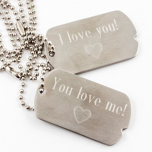 Military Style Dog Tag Set