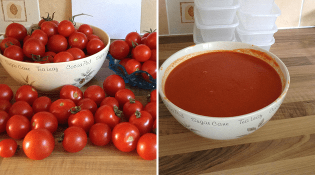 Huge haul of tomatoes & delicious pasta sauce