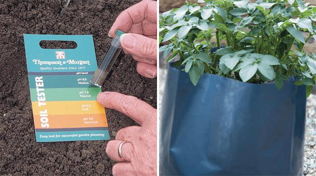 Ph tester kit & potato growing bags
