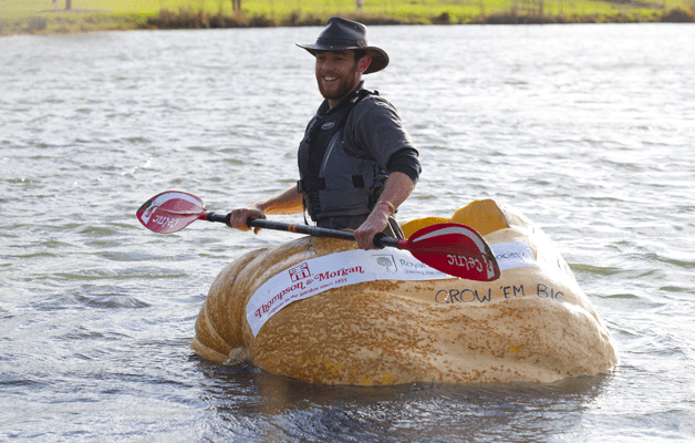 Matt Oliver and his Giant Pumpkin Boat!