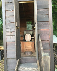 compost toilet - july 2017