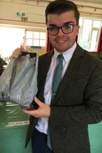 Thomas Carpenter, society secretary winning