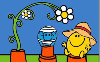 Mr Men Little Miss budding into seeds with Thompson & Morgan