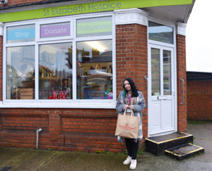Ella Curtis, Retail Apprentice at St Elizabeth Hospice shop, Bramford Road, Ipswich