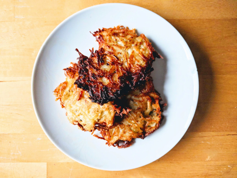 Adam's potato pancakes from Carrot Top Allotments