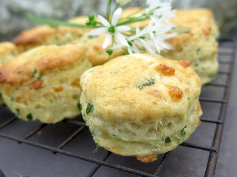 Wild garlic and cheese scones from Lavender and Leeks