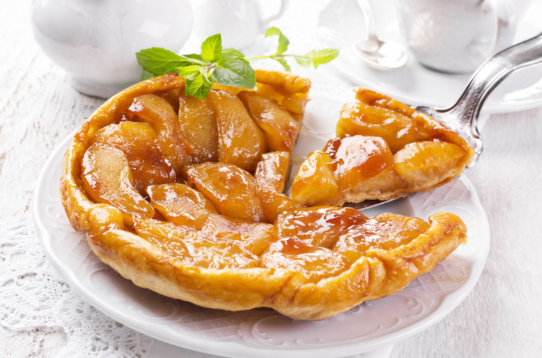 stock image of glazed apple tart