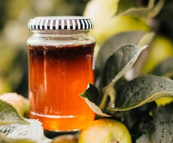 Crab apple jelly in jar